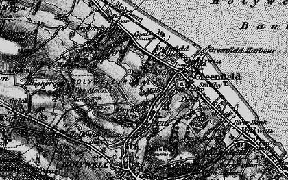 Old map of Basingwerk Abbey in 1896