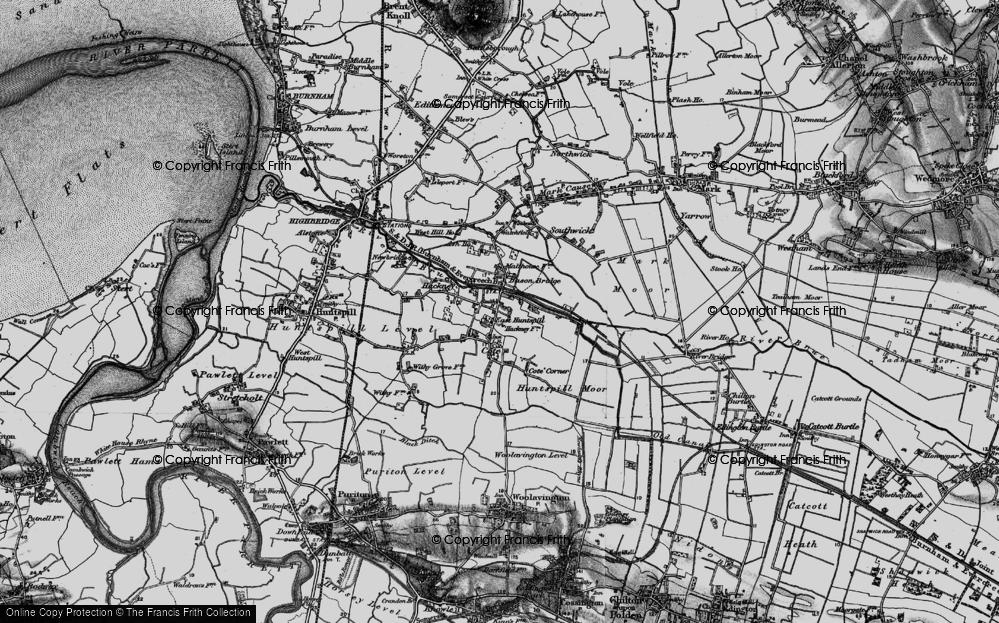 Old Map of Bason Bridge, 1898 in 1898