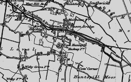 Old map of Bason Bridge in 1898
