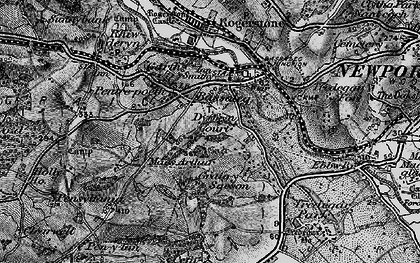 Old map of Bassaleg in 1897