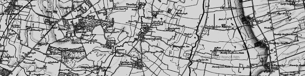 Old map of Wirelock in 1899