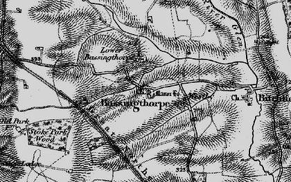 Old map of Bassingthorpe in 1895