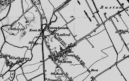 Old map of Baston in 1898