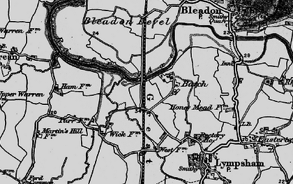 Old map of Batch in 1898