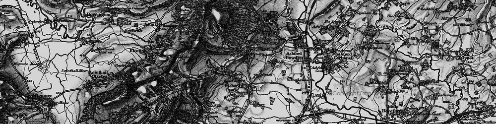 Old map of Woodcroft in 1899