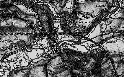 Old map of Batchworth in 1896