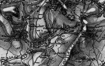 Old map of Batcombe in 1898