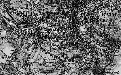 Old map of Bath in 1898