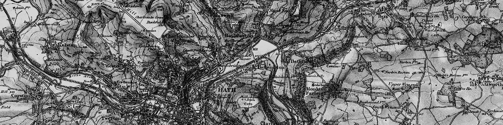 Old map of Bathampton in 1898