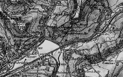 Old map of Batheaston in 1898