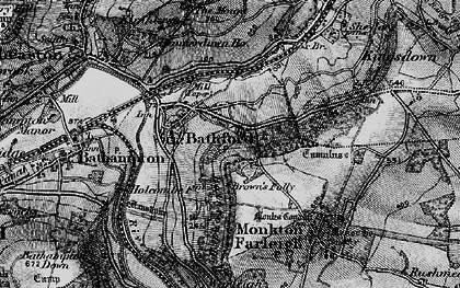 Old map of Bathford in 1898