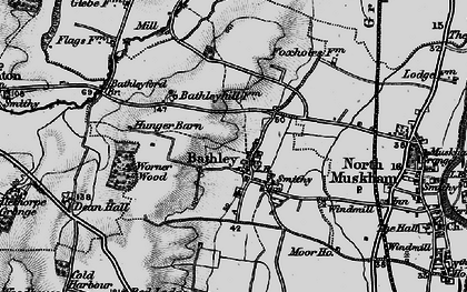 Old map of Worner Wood in 1899