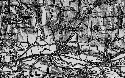 Old map of Bathpool in 1898