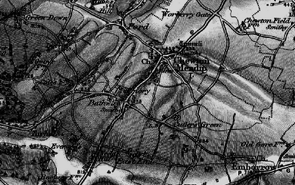 Old map of Bathway in 1898