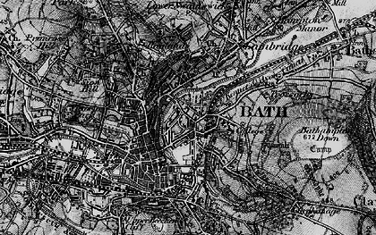 Old map of Bathwick in 1898