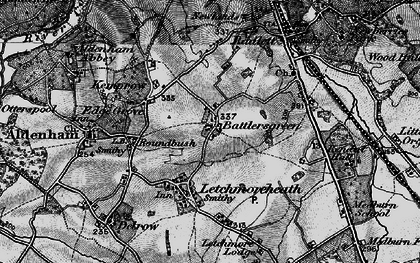 Old map of Batlers Green in 1896