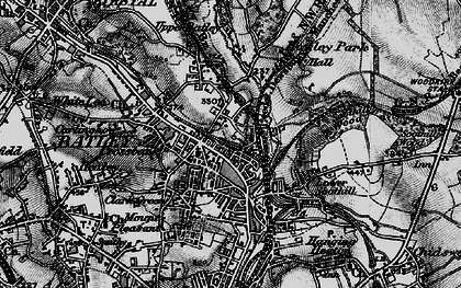 Old map of Batley in 1896