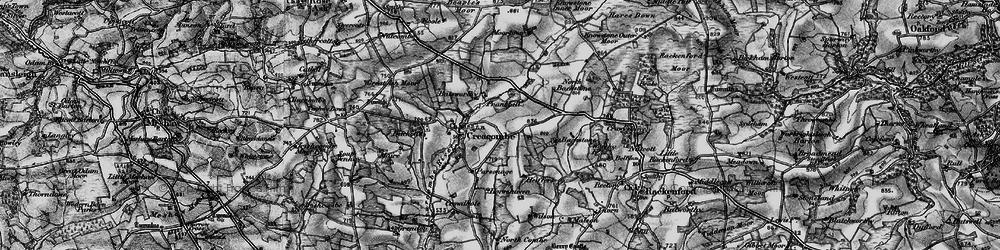 Old map of Batsworthy in 1898