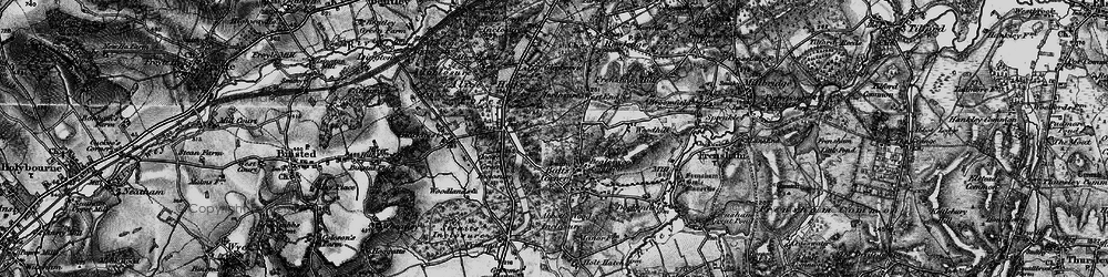 Old map of Willow's Green Inclosure in 1895