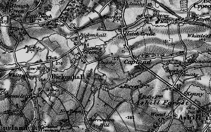 Old map of Batten's Green in 1898