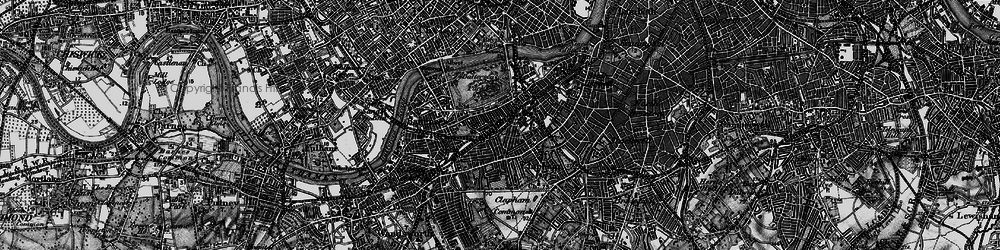 Old map of Battersea in 1896