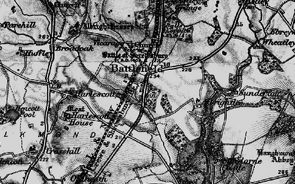 Old map of Albrightlee in 1899