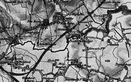 Old map of Battlesbridge in 1896