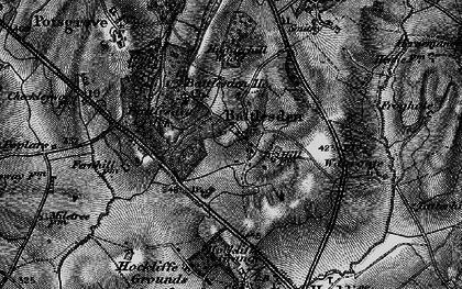 Old map of Battlesden in 1896