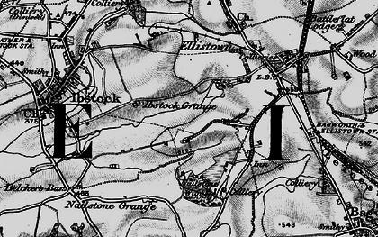 Old map of Battram in 1895
