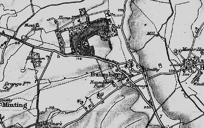 Old map of Baumber in 1899