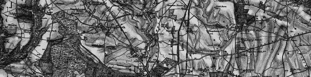 Old map of Wiggold in 1896