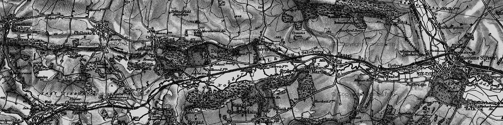 Old map of Baverstock in 1895