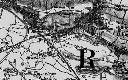 Old map of Bawdrip in 1898