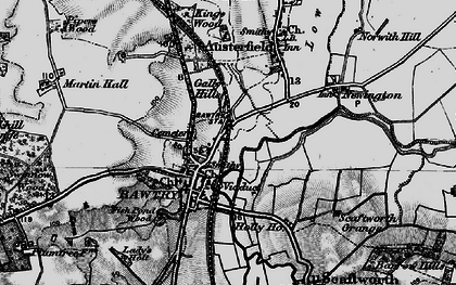 Old map of Bawtry in 1895