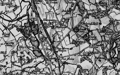 Old map of Bay Horse in 1896