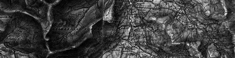 Old map of Woldgill Moss in 1897