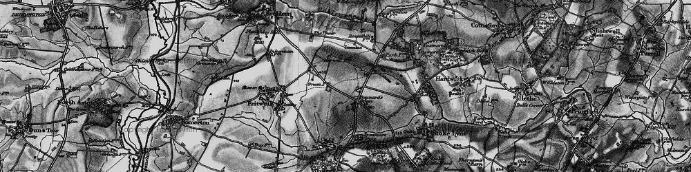 Old map of Baynard's Green in 1896
