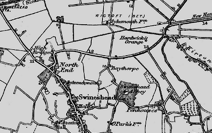 Old map of Baythorpe in 1898