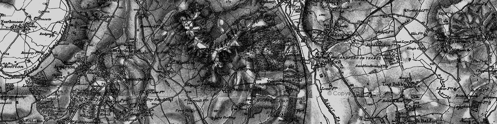 Old map of Bayworth in 1895