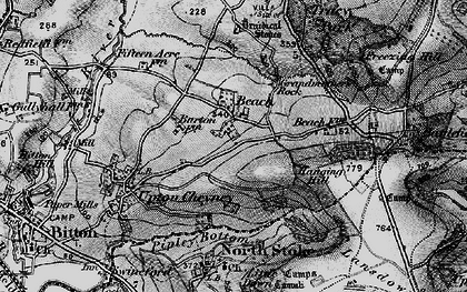 Old map of Beach in 1898