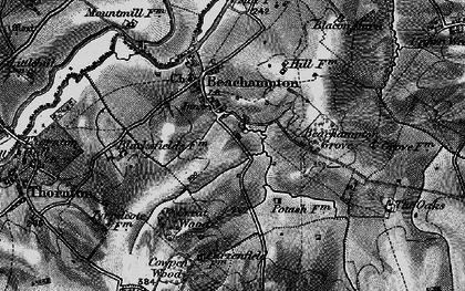 Old map of Beachampton in 1896