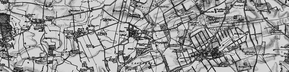 Old map of Beachamwell in 1898