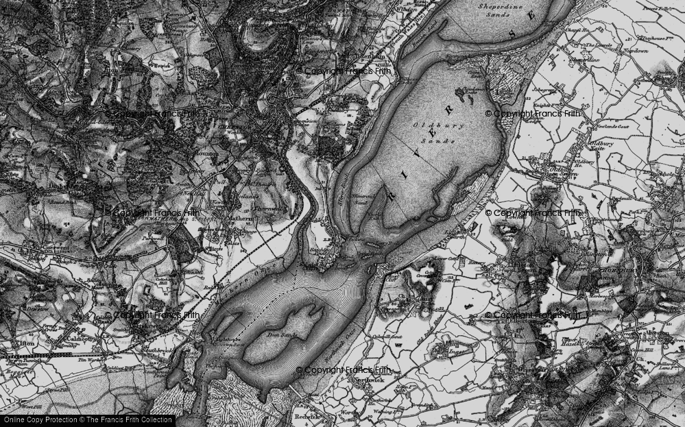 Old Map of Historic Map covering Whirls End in 1897