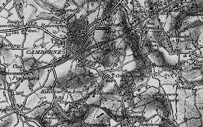 Old map of Beacon in 1896