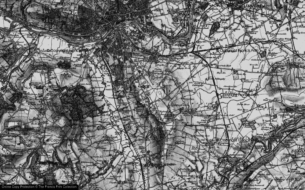 Old Map of Beacon Lough, 1898 in 1898