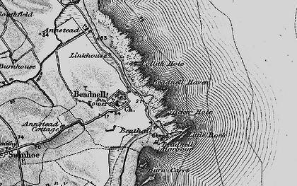 Old map of Beadnell in 1897