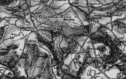 Old map of Axford in 1896