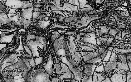 Old map of Wooda Bridge in 1896