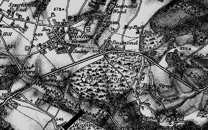 Old map of Beamond End in 1896