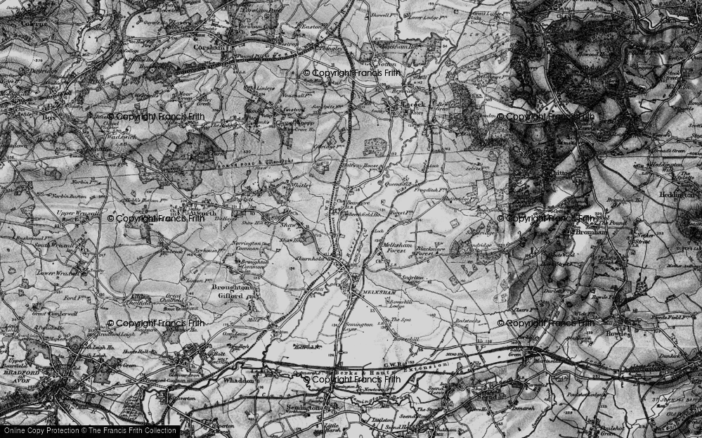 Old Map of Beanacre, 1898 in 1898